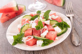 Salad with watermelon and feta — Stock Photo