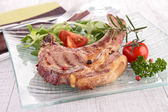 Grilled lamb chop — Stock Photo