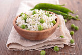 Pea risotto — Stock Photo