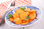 Carrot in plate — Stock Photo