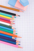 Pencils and paper — Stock Photo