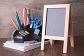 Blackboard and accessories — Stock Photo