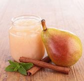 Pear compote — Stock Photo