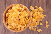 Cornflakes in bowl — Stock Photo