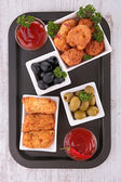 Assortment of appetizers — Stock Photo