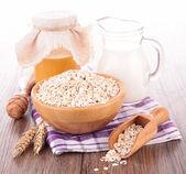 Muesli in wooden bowl — Stock Photo