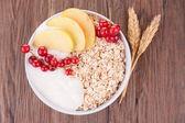Muesli and fruits — Stock Photo