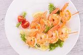 Grilled shrimp — Stock Photo