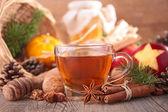 Christmas tea — Stock Photo