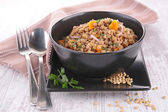 Lentil with carrot and onion — Stock Photo