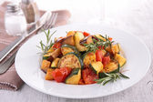 Grilled vegetables, ratatouille — Stock Photo