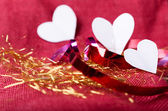 Valentines Day background with hearts — Stock fotografie