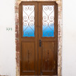 Greek door and window. — Stock Photo #39239381