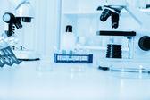 微管与生物样品 — 图库照片