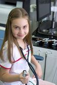 Girl - doctor — Stock Photo
