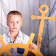 Boy - capitan — Stock Photo
