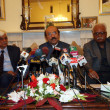 Stock Photo: Sindh Chief Minister, Qaim Ali Shah addresses to medipersons during press conference
