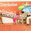 Students perform tableau on stage on occasion of Annual Prize Distribution Day — стоковое фото #16646189