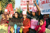 Universal Human Rights Day, arranged by different NGOs at Lahore press — Stock Photo