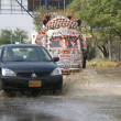 Stock Photo: First downpour of winter season in Karachi