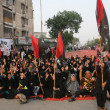 Shiite Muslims hold protest against target killing and genocide of Shiite Muslims across Pakistan — Stock Photo