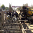 Construction work of a flyover is in its progress  under the supervision of Karachi Metropolitan Corporation (KMC) — Stock Photo