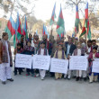 Foto de Stock  : Members of Jamot Welfare Association hold rally in connection of Sindhi Culture Day