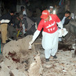 Stock Photo: Bomb blast in QissKhawani Bazaar areof Peshawar killed Senior Provincial Minister Bashir Ahmed Bilour