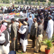 Stock Photo: Carry coffin of police officials, who killed in assassination attack on Ahle Sunnat Wal Jamat (Defunct Sipah-e-Sahaba) leader