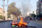 Strike against an assassination attack on Aurangzeb Farooqi — Stock Photo
