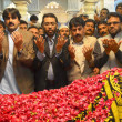 Stock Photo: MuttehdQaumi Movement (MQM) leaders, Dr.Sagheer Ahmed and others offer Fatehat grave of Benazir Bhutto