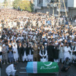 Stock Photo: Offer funeral prayer of veterJamat-e-Islami Leader, Professor Ghafoor Ahmed at Idara-e-Noor-e-Haq