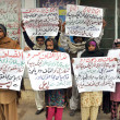 Residents of District DerGhazi Khchant slogans against gang rape with AnitMai and their arepolice officials — Stock Photo #18180357