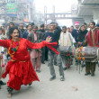 Devotees of Hazrat Data Ganj Bakhsh (RA) presents Dhamal on the occasion of his Annual Urs celebration - Stock Photo