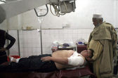 NGO Member, Majid who got injured in an assassination attack by unidentified gunmen at Sawabi — Stock Photo