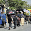 Mourning procession in connection of Chehlum (Fortieth Day Mourning Commemoration) of Hazrat Imam Hussain (A.S) — Stock Photo