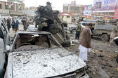 Eleven killed in bomb blast at Bacha Khan Chowk in Quetta — Stock Photo