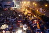 Protesting against Supreme Court of Pakistan order to arrest Prime Minister Raja Pervez Ashraf. — Stock Photo