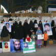 Relatives of missing persons are protesting against their kidnapping and demanding for recovery of their loved ones — Stock Photo #19227225