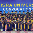 Group photo of successful students on occasion of annual convention of IsrUniversity — Stockfoto #19428857