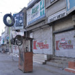 Stock Photo: Shops seen closed after target killing of two activists of MuttehdQaumi Movement