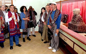A group of high commissioners and ambassadors 19 countries visit historical place of Moen-Jo-Daro — Stock Photo
