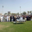 Постер, плакат: Offer funeral prayer of Provincial Sports Minister Dr Muhammad Ali Shah at Asghar Ali Shah Stadium