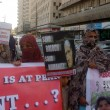 Members of Baloch Human Rights Organization are protesting against military operation genocide of Baloch — Stock Photo