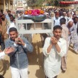 Stock Photo: Carry coffin of PolicemGul Sher, who was gunned down by unidentified persons