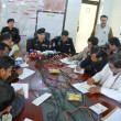 Capital City Police Officer (CCPO) Quetta, Mir Zubair Mehmood addresses to media persons during press conference — Stockfoto #22279209