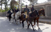 Horse rider police officials patrol passes at Zarghoon road to ovoid untoward incident as the security has been tightening in Quetta — Stock Photo