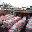 A view of huge quantity of contraband Gutka, Pan Masala stuffed in five containers had arrived on 4th February, 2013 — Stock Photo