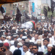Stock Photo: Carry coffin of MuttahidQaumi Movement activist Faisal Khan, who was gunned down by unidentified persons