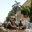 Stock Photo: Army personnel convoy patrol in city for maintain law and order situation for upcoming General Election 2013